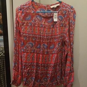 Loft Swingy Paisley Print shirt